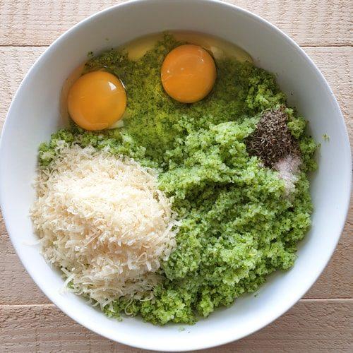Brokoli pitsapõhja koostisosad